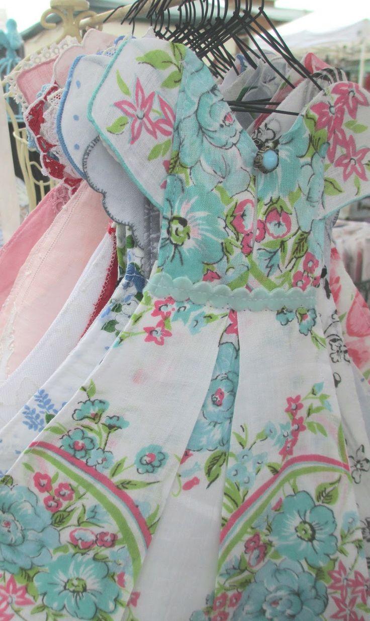 Isa Creative Musingss.blogspot.com   Vintage Hankie Dresses