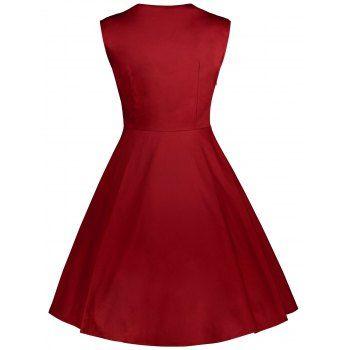 Midi Polka Dot Prom Dress - 4XL 4XL