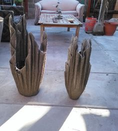 How to make cement planters using old rags I used two other ingredients in my slurry 1 cup of perlite 2 cups of peat moss I used these as a binding agent. Pr...