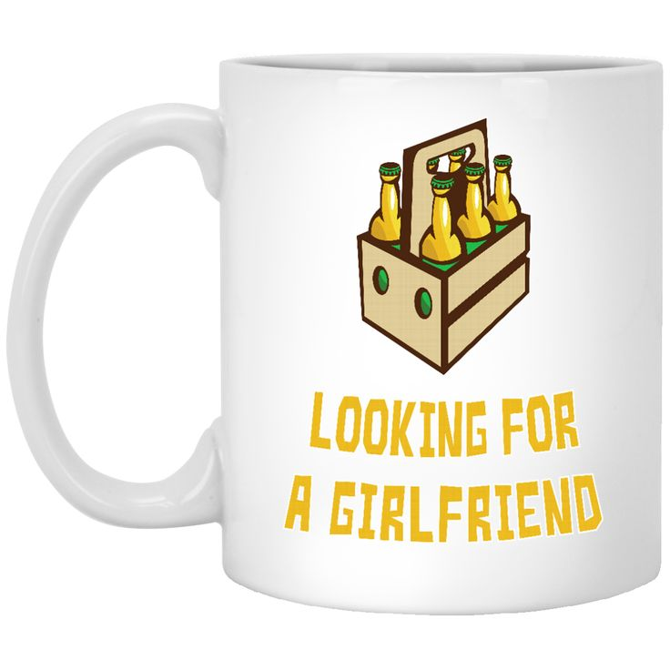6 PACKS LOOKING FOR A GIRLFRIEND XP8434 11 oz. White Mug
