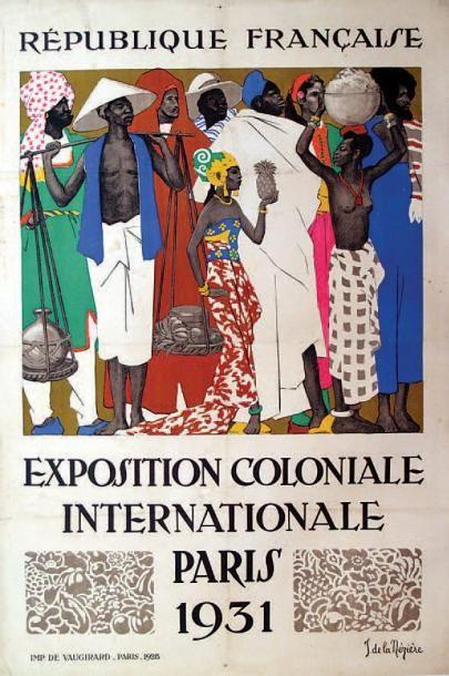 Exposition coloniale internationale - Paris 1931 - illustration de Jean de la Neziere -