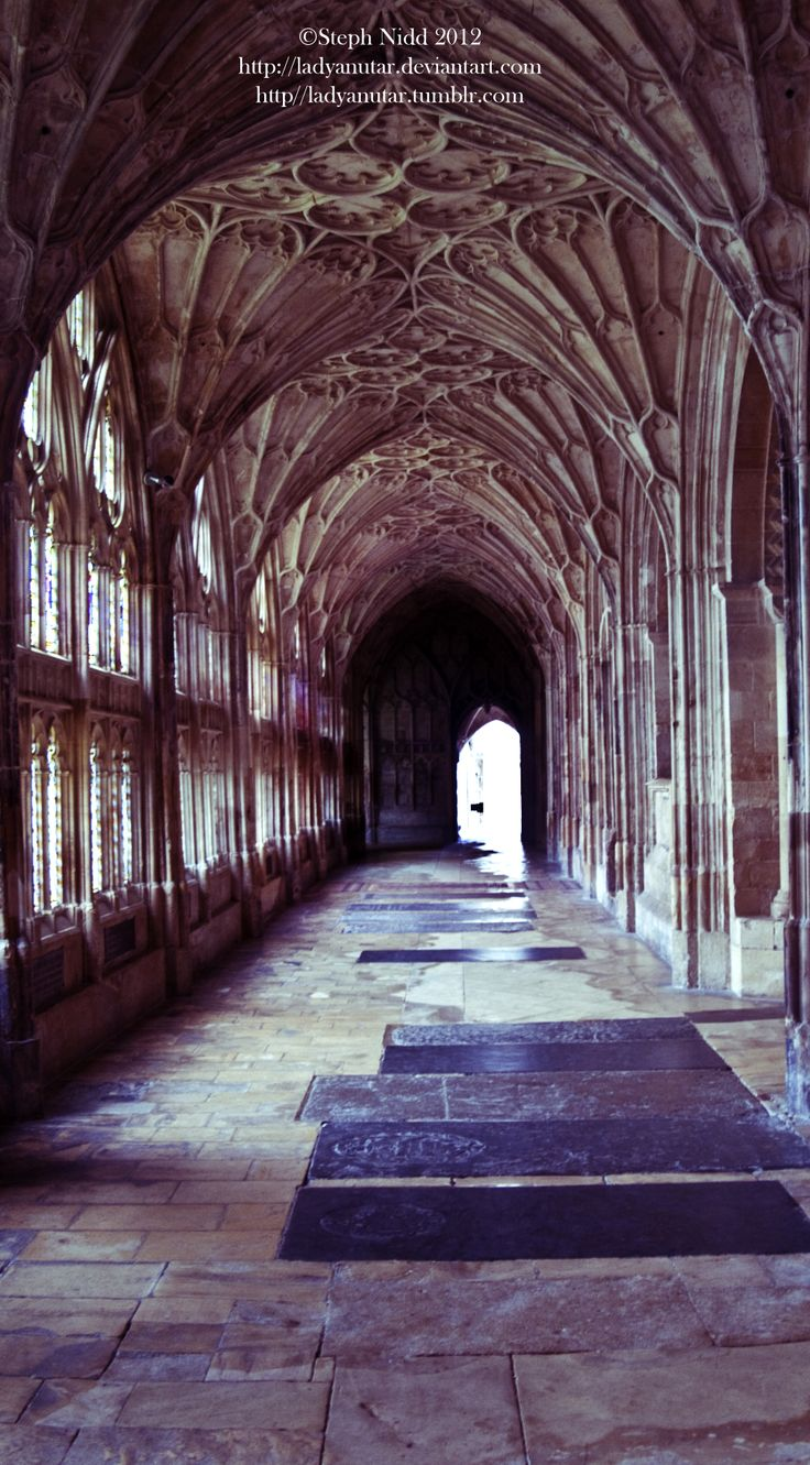 Another image of the cloister at Gloucester Cathedral