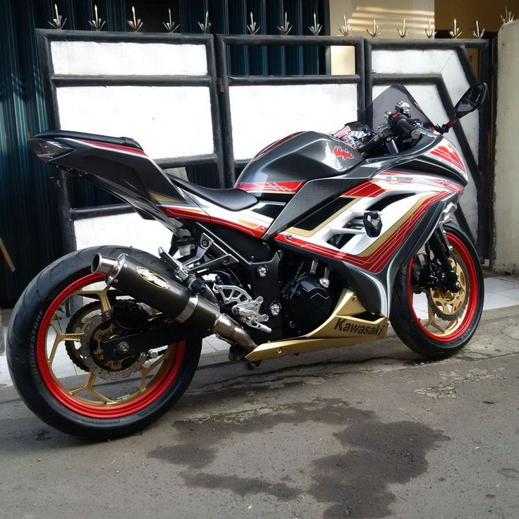 ninja 250 fi full modifikasi terkeren