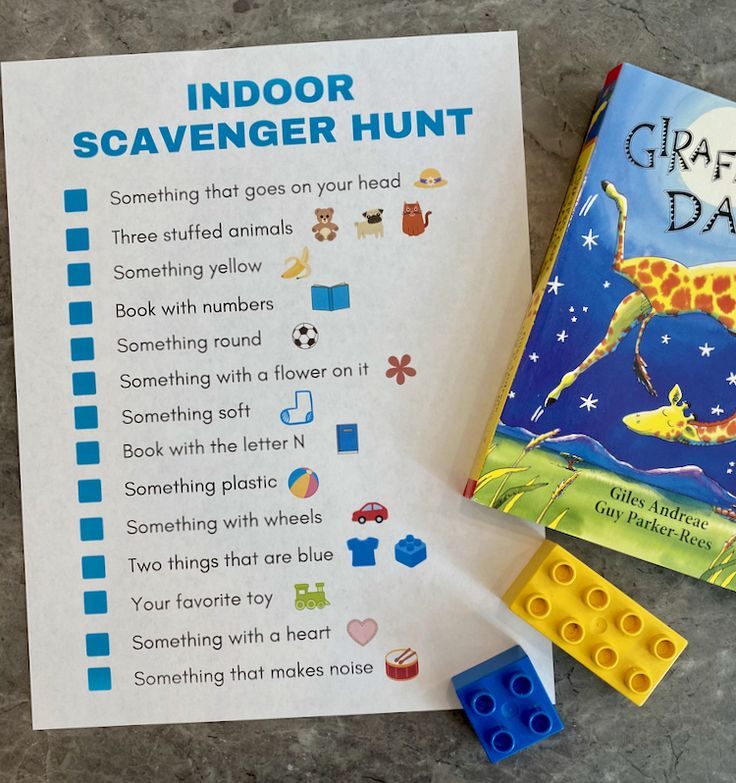 Indoor Scavenger Hunt for Kids Free Printable in 2020