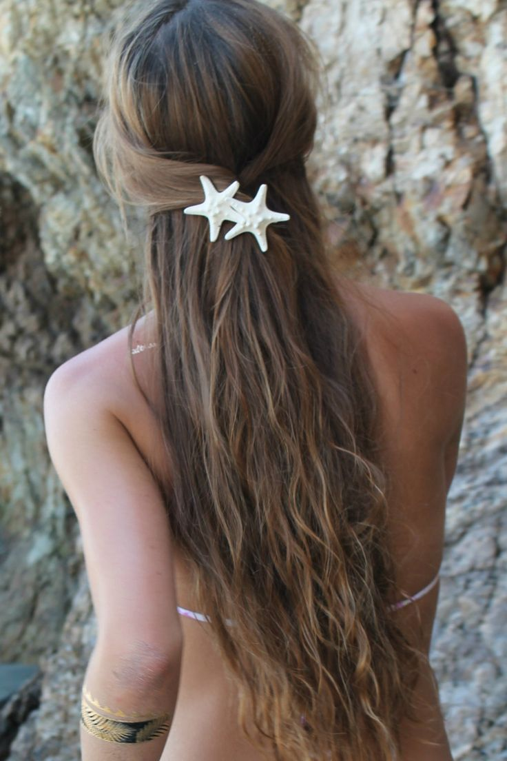 Knobby Duo Barrette, Starfish Hair Clip, Mermaid Accessory, Beach Weddings by PoppyCoast on Etsy
