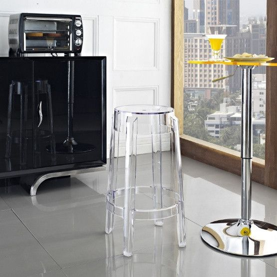 Modway Casper Acrylic Counter Stool - Clear