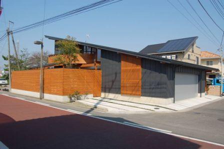 「2009ぐんまの家」最優秀賞「片流れ屋根の家」外観
