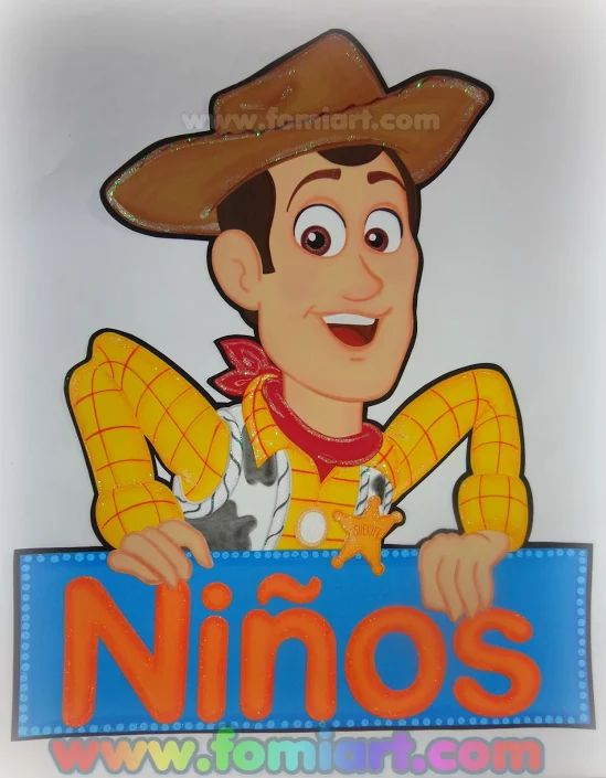 Letrero Ni 241 Os Woody De Toy Story Disney Characters Toy