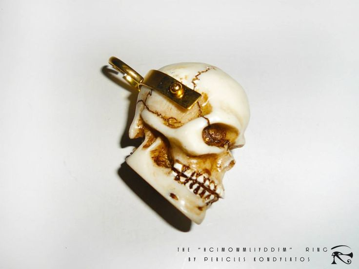 "The ""HCIMOWMLIYDDFM""  Ring  (How could I move on with my life, if you didn't die for me?) By Pericles Kondylatos Acrylic & Gold  Available to order"