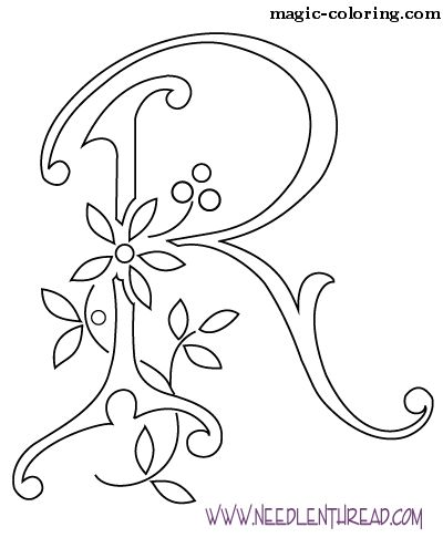MAGIC-COLORING | Flowered Monograms