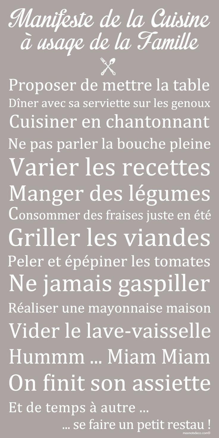 Affiche adhésive - Sticker géant - Poster autocollant - Déco cuisine