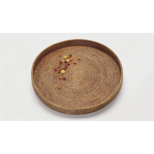 Found it at Wayfair - Rattan Large Round Tray