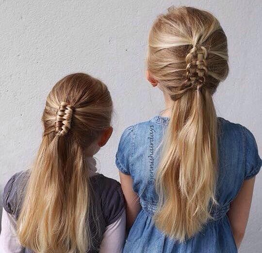 Deze vlechtjes zijn echt schattig! Betoverende vlechten voor meisjes met lang haar! - Kinderkapsels