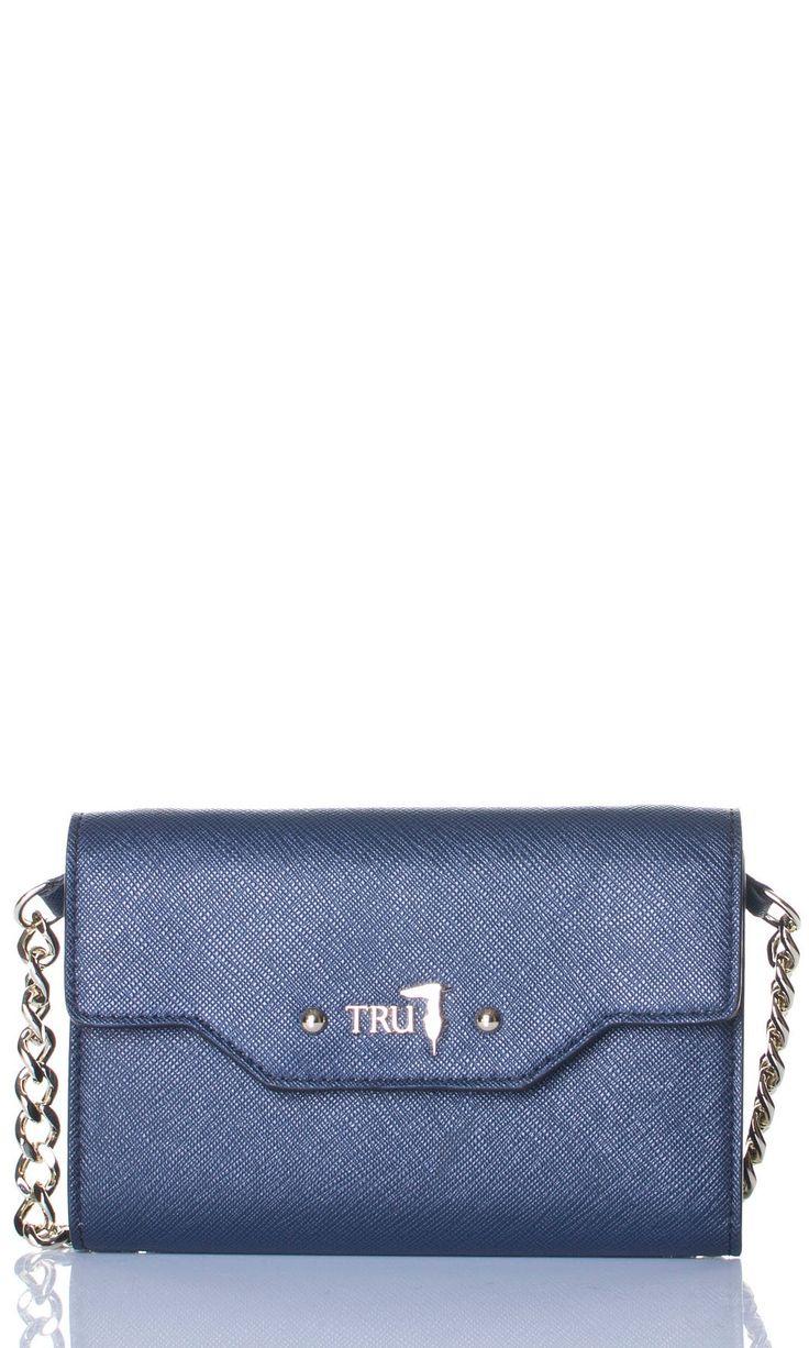 Tru Trussardi | Pochette Con Tracolla Tru Trussardi Donna Col. Blu - Shop Online su Dursoboutique.com 76P001K303