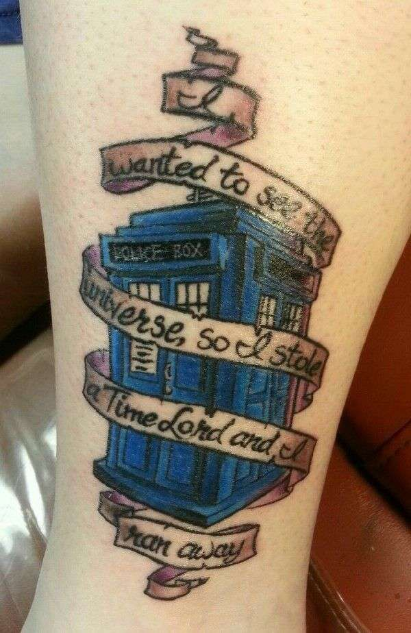 Doctor Who Tattoo: I really like this one and the quote is perfect.