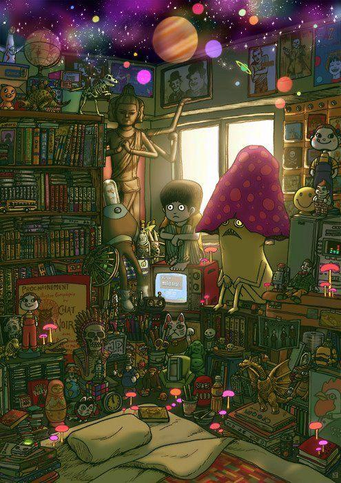 Uetsuji Shotaro Draws Dream-Like Visions Of Alien Encounters And Ghostly…