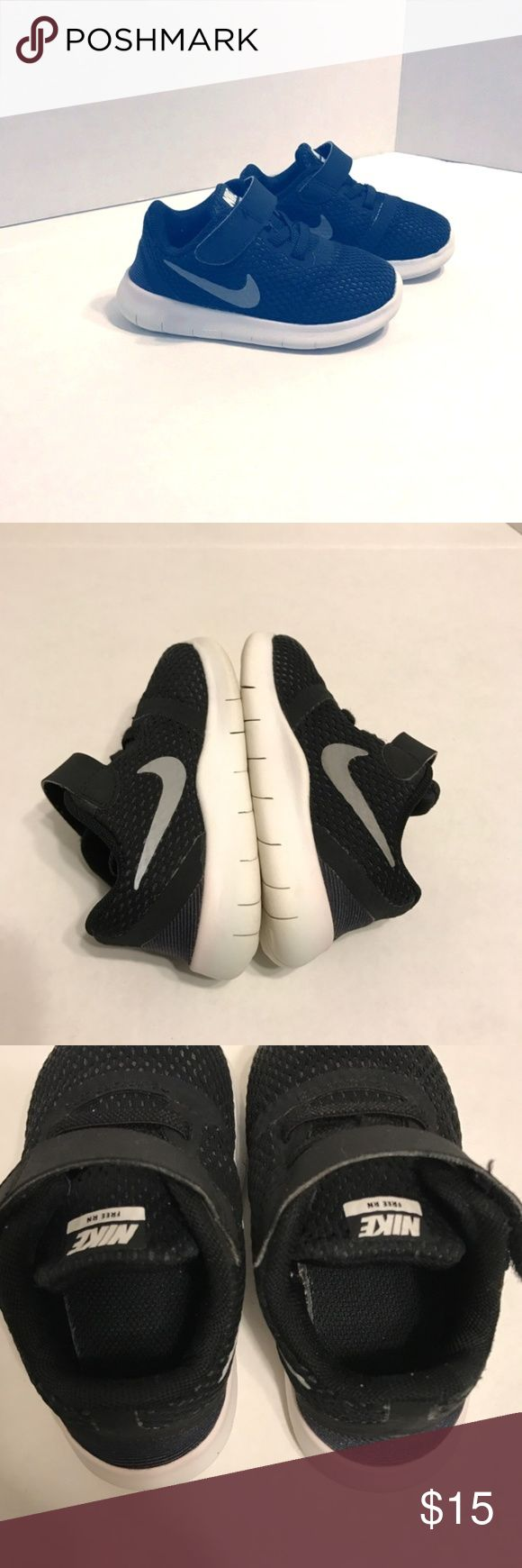 "[NIKE] Toddler Boys Size 6 Nike free RN shoes size 6c// in used condition. Lots of wear left in them! No stains or fading - smoke/pet free home. Outer sole-6"". Velcro tie. Very flexible sole. **New mommy cleaning out closets! Make an offer and it's yours!** Nike Shoes Sneakers"