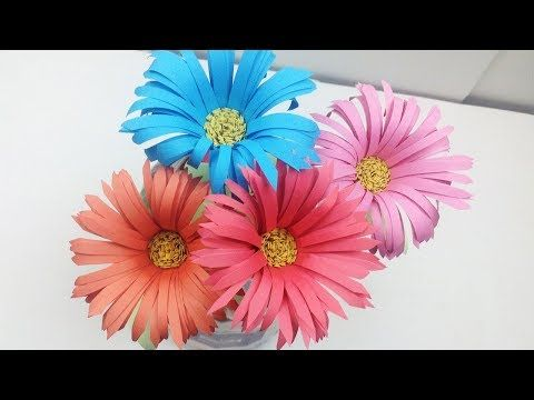 How To Make Aster Flower Out Of Colour Paper Easy Way To Make
