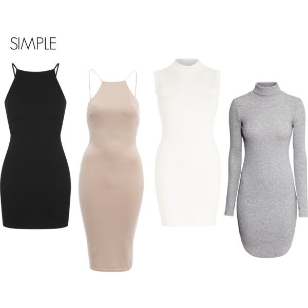SIMPLE by louisesandstroms on Polyvore featuring Topshop, River Island, H&M and AX Paris