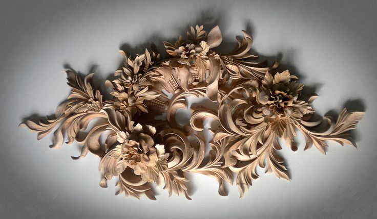 the Wall Decoration- custom Ornamental Wood Carving