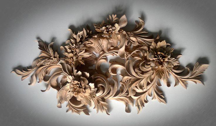 the Wall Decoration- custom Ornamental Wood Carving