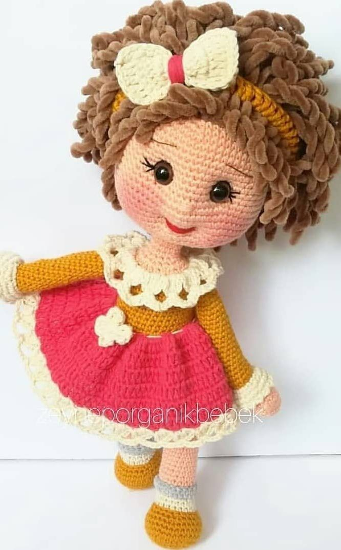 Dress Up Dolls Amigurumi Crochet Patterns: 5 big dolls with ... | 1075x666