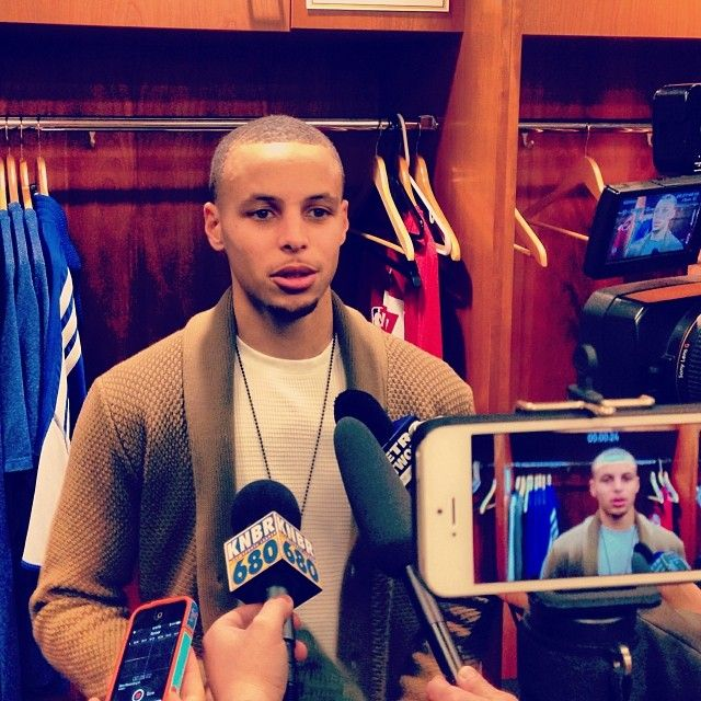 Stephen Curry talking about tonight's big win, and how it felt to hit another game-winner.