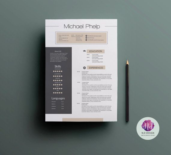 Professional resume package : CV template cover by TemplatesShop