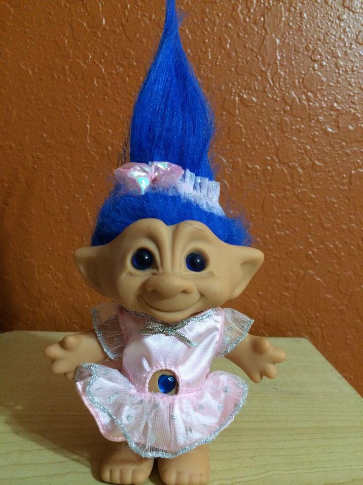 Blue Ballerina Troll Doll, Vintage Troll Doll, Treasure Troll by LunaSavita on Etsy