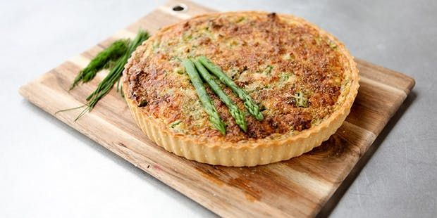 Try this Smoked Salmon Quiche recipe by Chef Noel. This recipe is from the show The Great Australian Bake Off.