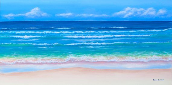 Surf Art Acrylic Painting Original Painting Wall Art Ocean Art
