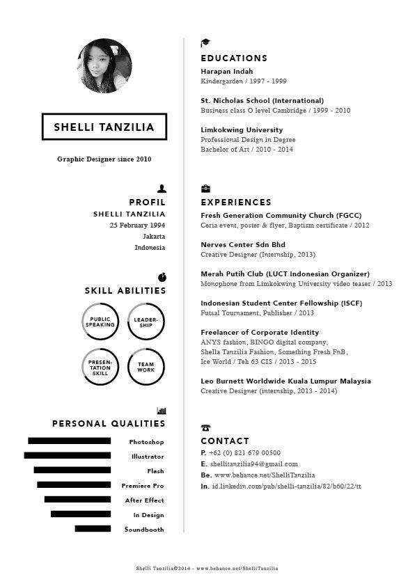 Resume Cv On Behance Resume Design Graphic Resume Resume Design Template