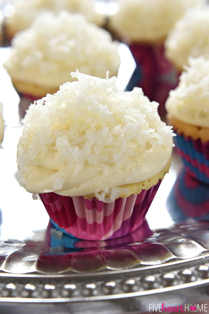 ... cream cheese frosting and sweetened coconut flakes   FiveHeartHome.com