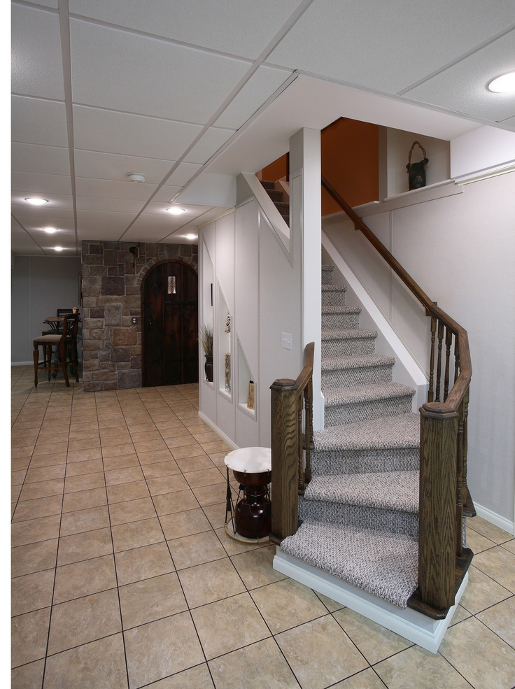 Basement Stair Landing Decorating: 17 Best Images About Stair Ideas On Pinterest