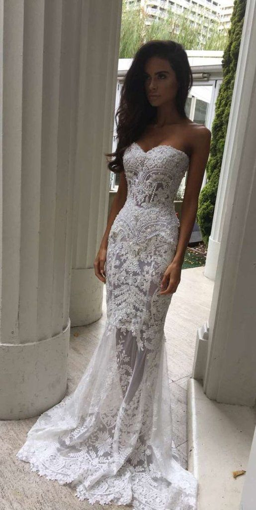 Lace Wedding Dress,Wedding Dress Lace, Mermaid Wedding Dress,See Through Wedding Dress,WD013 #laceweddingdresses