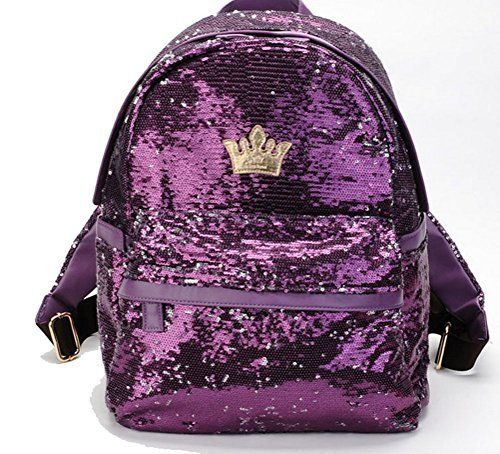 New Trending Backpacks: BlueField Women Sequin Backpack Bling Ebroidered Paillette Glitter School Backpack Shoulder Handbags. BlueField Women Sequin Backpack Bling Ebroidered Paillette Glitter School Backpack Shoulder Handbags  Special Offer: $29.99  344 Reviews for this backpack, the mainly material is PU and Sequin,beatiful and eye-catching, one secrit zipper closure pack on front side, and have watter...