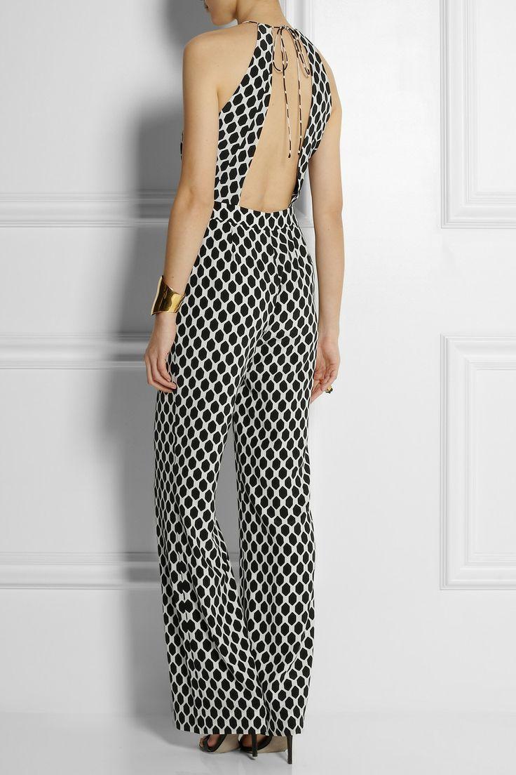 Diane von Furstenberg | Ireland open-back printed silk jumpsuit