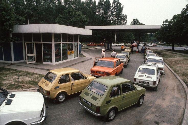 stacja benzynowa CPN, lata 80.
