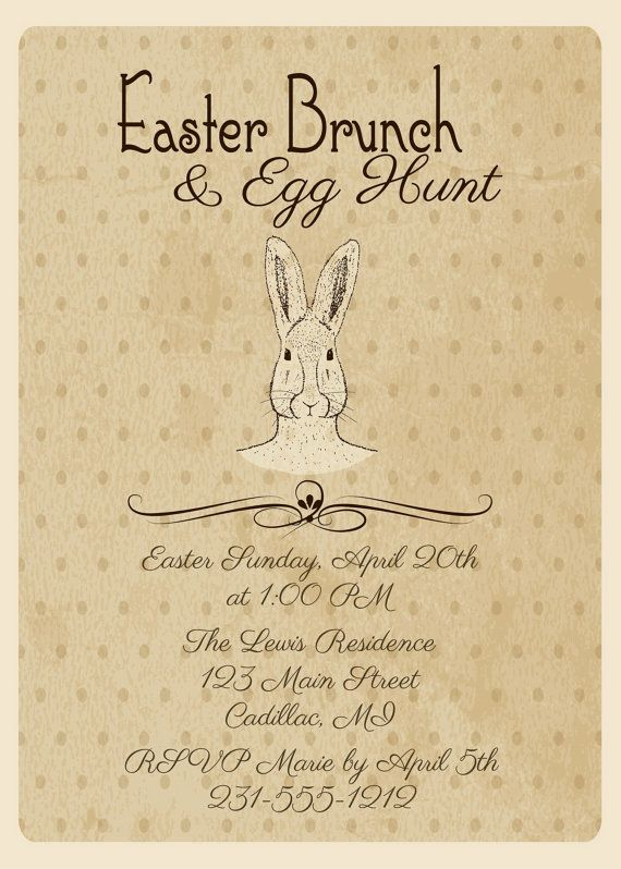 Best Easter Dinner  Party Invitations Images On