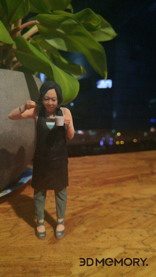 Made by 3D MEMORY!! Baristar Art MIniauture!! 바리스타 분의 아트미니어쳐 입니다^^  #3DMEMORY #ART #ArtMiniature #3DPrinting #coffee #홍대