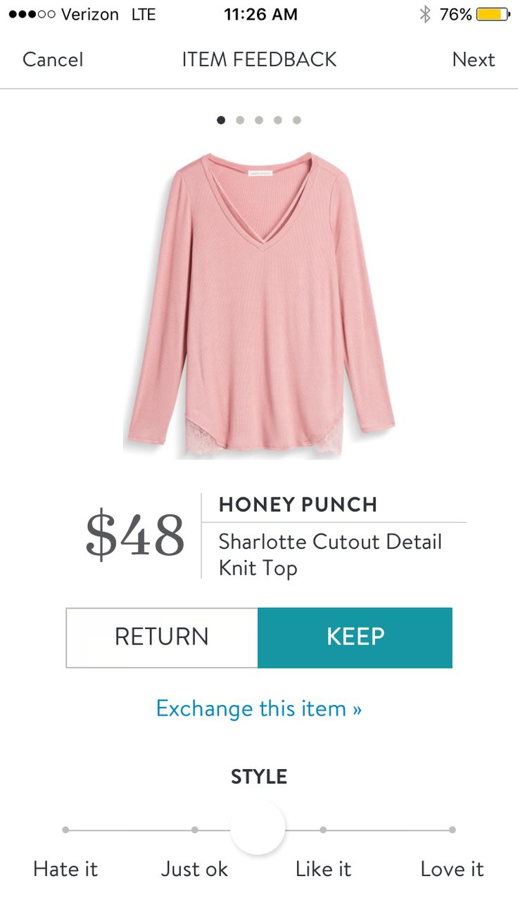 Honey Punch Sharlotte Cutout Detail Knit Top $48. I love Stitch Fix! A personalized styling service and it's amazing!! Simply fill out a style profile with sizing and preferences. Then your very own stylist selects 5 pieces to send to you to try out at home. Keep what you love and return what you don't. Only a $20 fee which is also applied to anything you keep. Plus, if you keep all 5 pieces you get 25% off! Free shipping both ways. Schedule your first fix using the link below! #stitchfix…