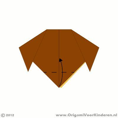 Origami instructies stap 4