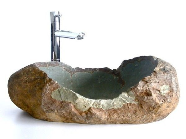 natural stone sinks for a unique bathroom interior