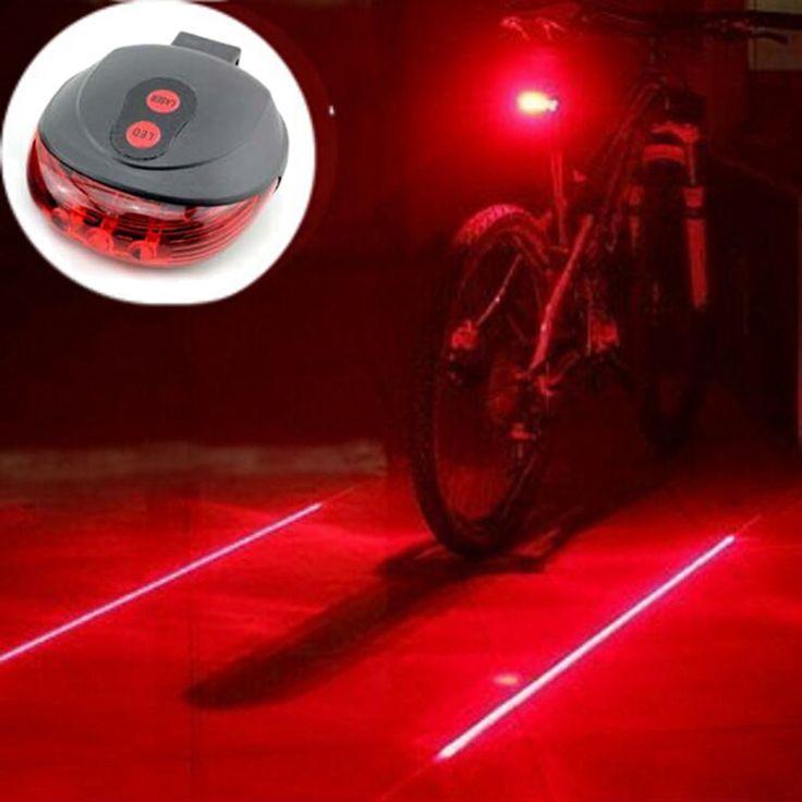 VICTGOAL Sepeda Light Laser 2 Malam Bersepeda Gunung Sepeda Jalan Saddle MTB Belakang Lampu Keselamatan Cahaya Lampu Backlight 7 Modus N1003