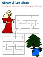 Abram and Lot Mazes, lessons, coloring, etc.  Genesis 13-14 DLTK