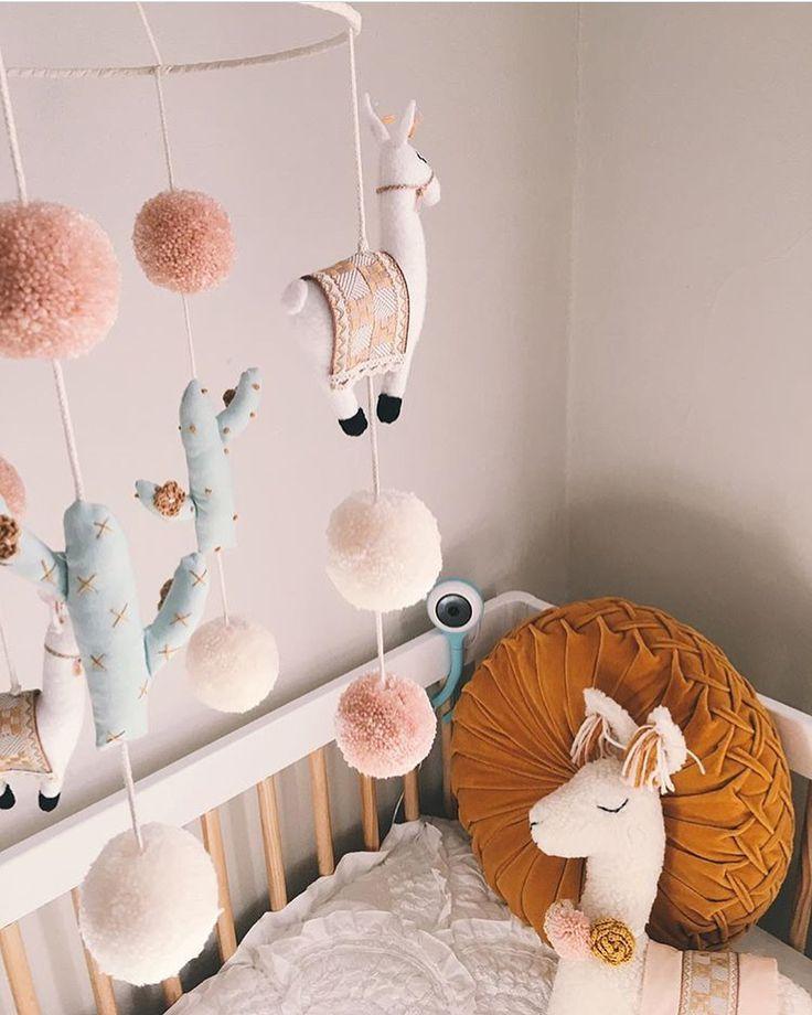 Llama Themed Nursery Wood And Neutral Boho Decor | Baby Room Design, Girl Nursery, Nursery