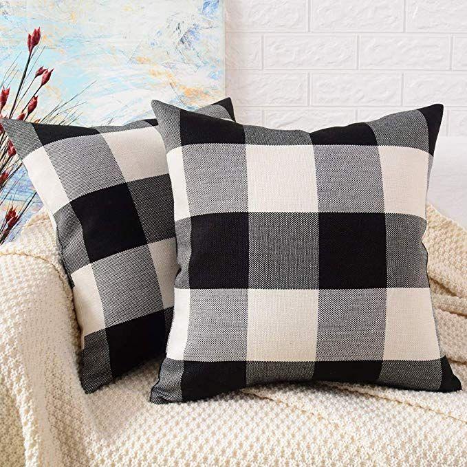 Amazon Com Mernette Pack Of 2 Cotton Linen Blend Decorative