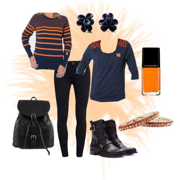 """Illinois to the Heart of Dallas Bowl"" by UGapparel on Polyvore   Such a chic outfit to show your Fighting Illini pride at the Heart of Dallas Bowl! #UIUC"