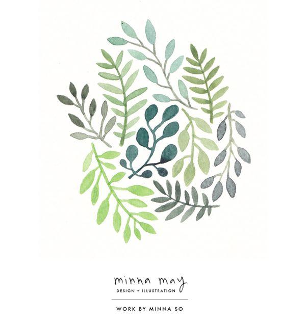 watercolor / plants - minna so | design + illustration | minna may portfolio