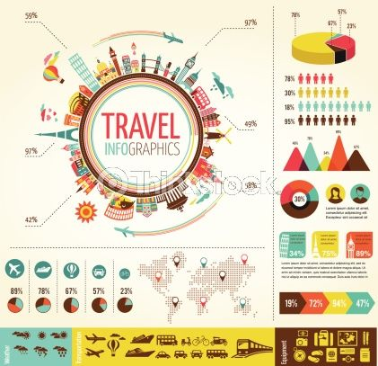 Vector Art: Travel and tourism infographics with data icons, elements